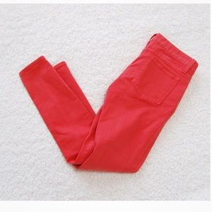 J crew Coral Toothpick Ankle Jeans